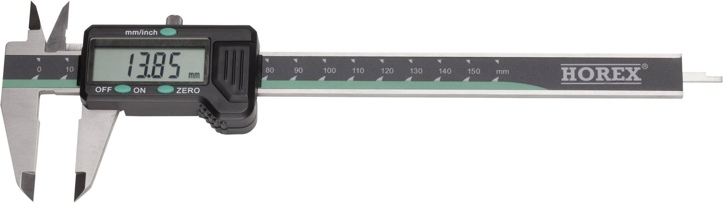 Digitální posuvné měřítko Horex 2211218, měřicí rozsah 200 mm, Kalibrováno dle vlastní