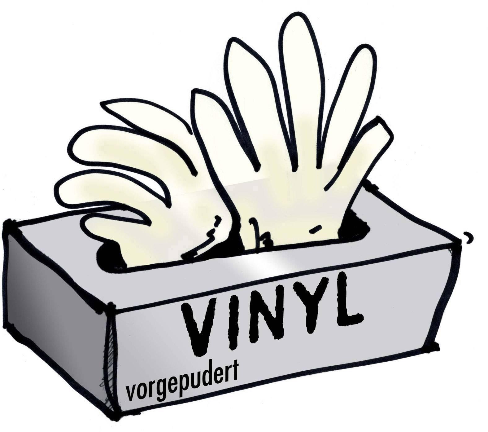 Ochranné jednorázové rukavice, velikost M, 24 cm, transparentní, 100 ks
