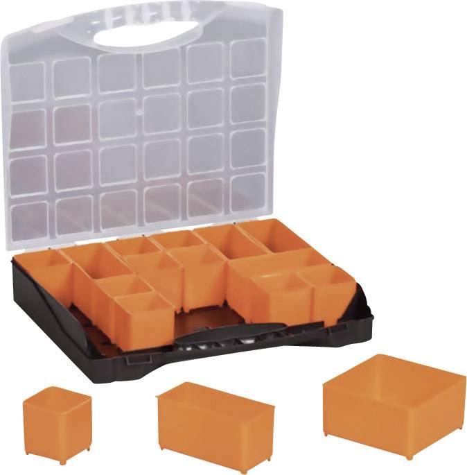 Kufrík na súčiastky Alutec 56110, priečinkov: 16, 300 x 255 x 54 , čierna