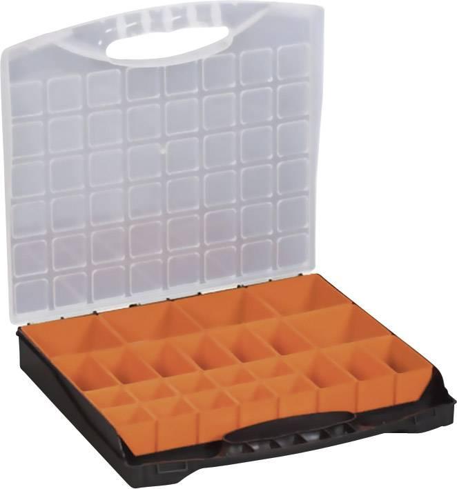 Kufrík na súčiastky Alutec 56120, priečinkov: 24, 400 x 370 x 58 , čierna