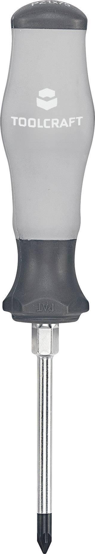 Krížový skrutkovač TOOLCRAFT 820736, PZ 1, dĺžka čepele: 75 mm