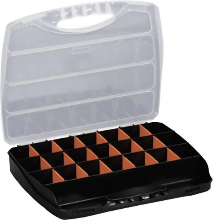 Kufrík na súčiastky Alutec 56010, priečinkov: 23, 380 x 300 x 60 , čierna