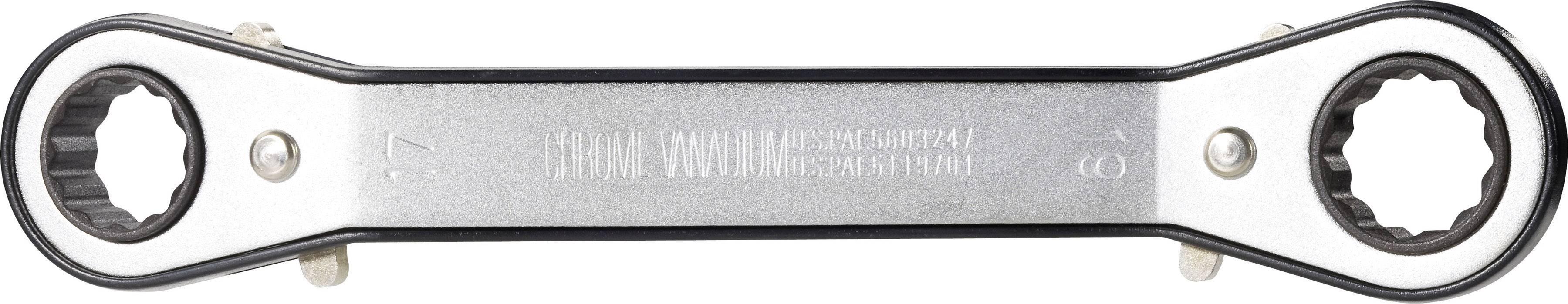 Súprava obojstranných račňových kľúčov TOOLCRAFT 814005, 6 - 19 mm, N/A, 7-dielna