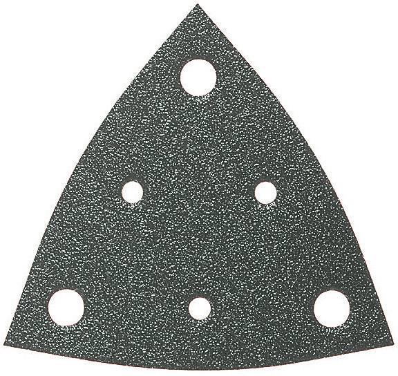 Sada brúsneho papiera pre delta brúsky Fein 63717109035 na suchý zips, s otvormi, zrnitosť 60, 80, 120, 180, 240, 1 sada
