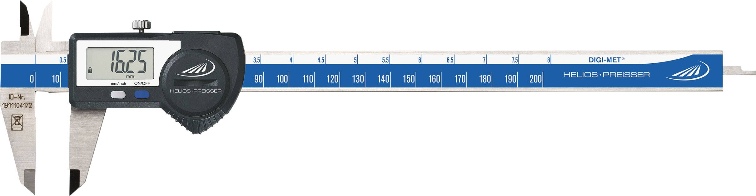 Digitálne posuvné meradlo Helios Preisser DIGI-MET 1320 519, rozsah merania 200 mm