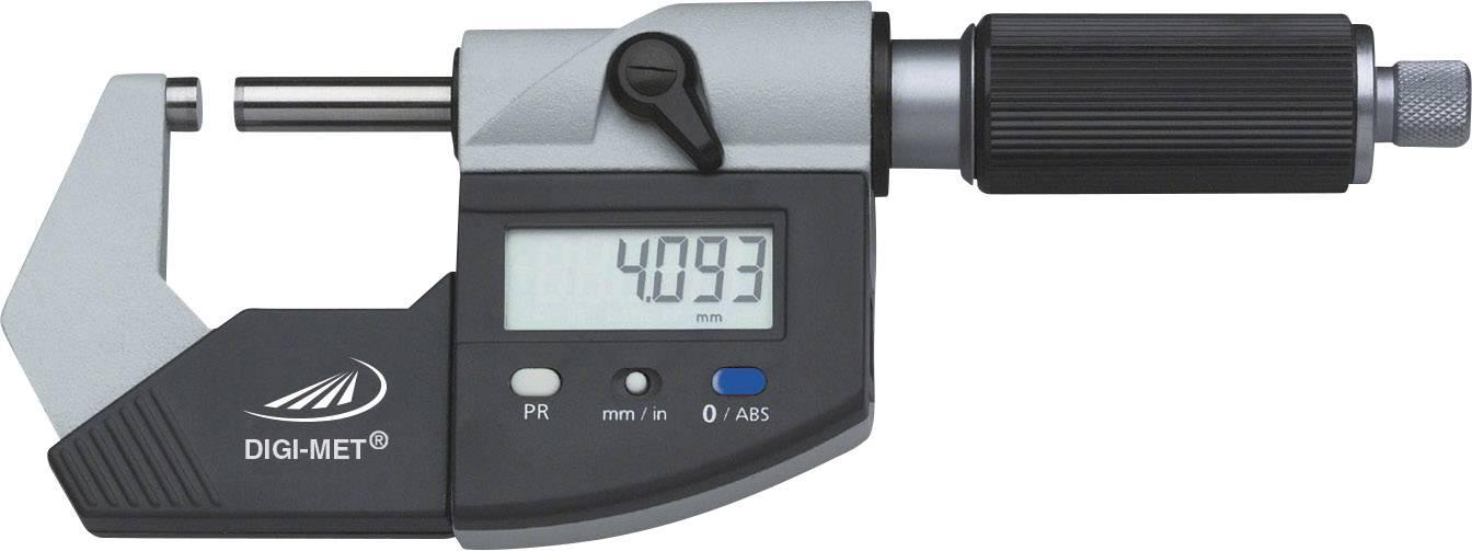 Digitálny skrutkovací mikrometer Helios Preisser 1865 510, 0 - 25 mm