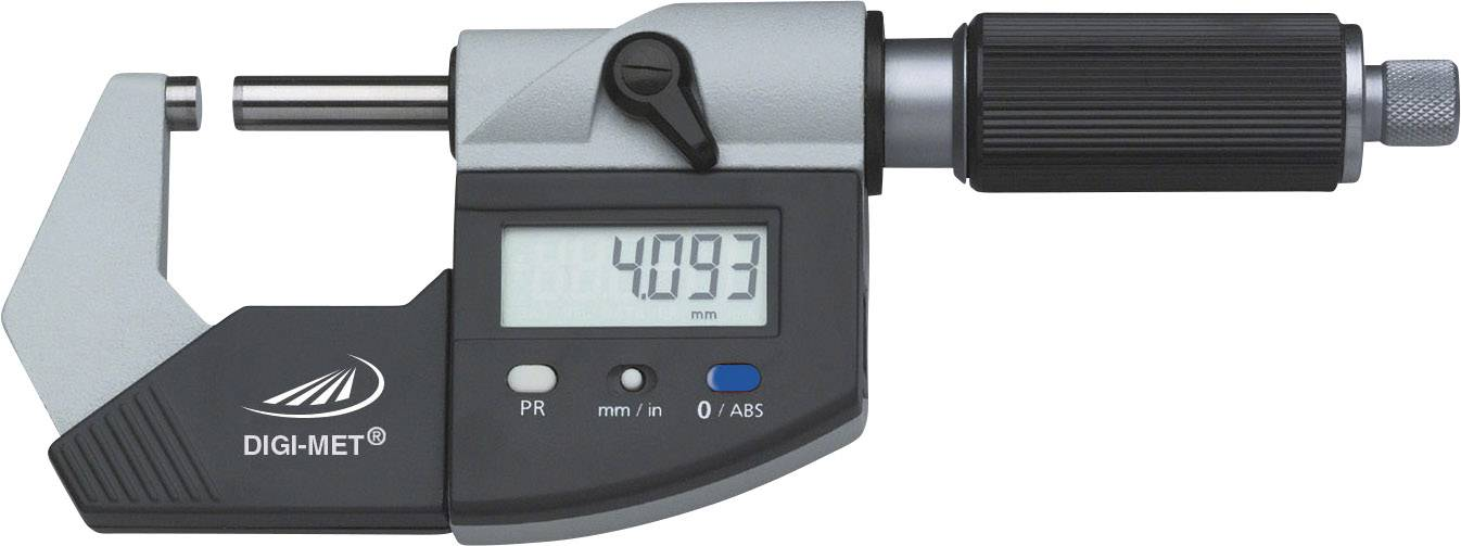 Třmenový mikrometr DIGI-MET® Helios Preisser 1865 513 Kalibrováno dle ISO