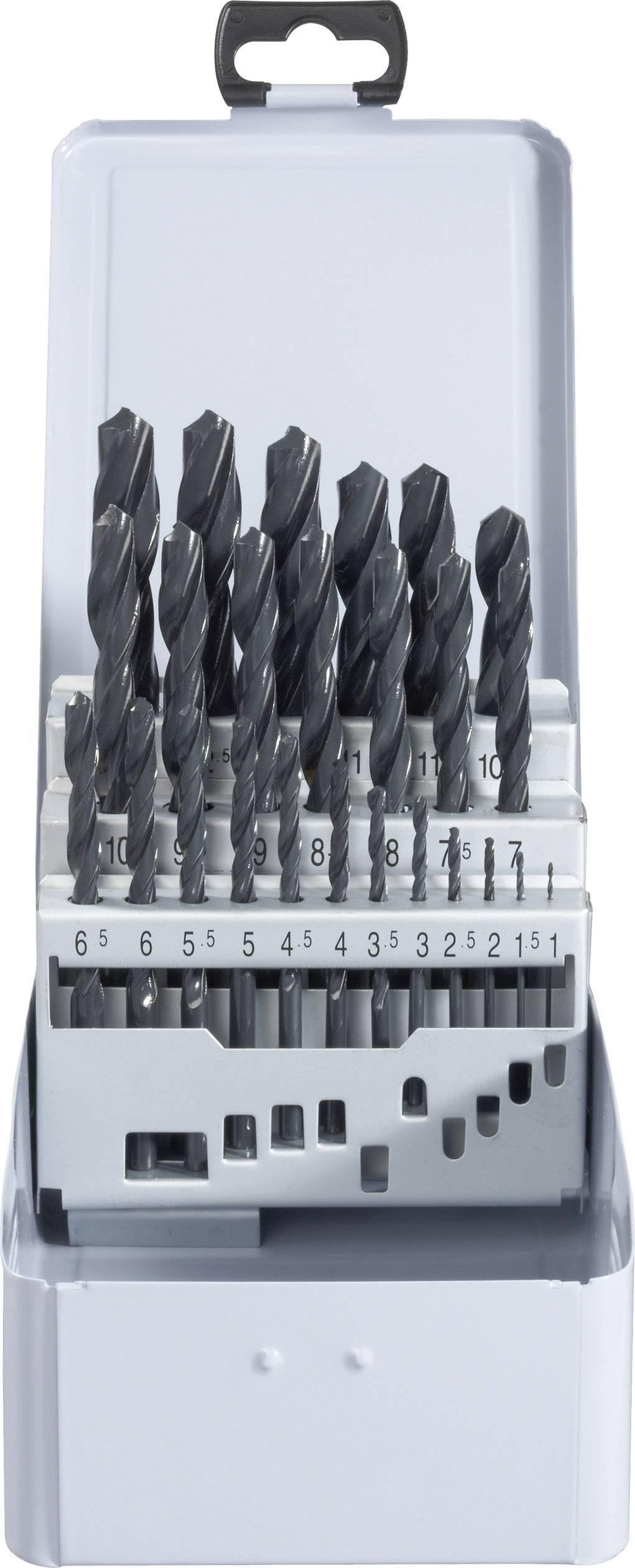 Sada špirálových vrtákov do kovu TOOLCRAFT 822604, N/A, HSS, 25-dielna