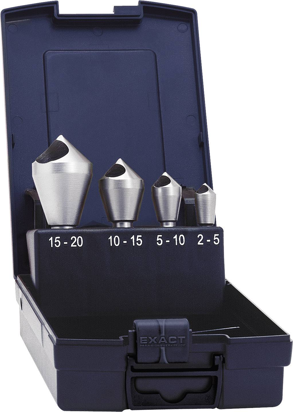 Sada kužeľových záhlbníkov s priečnym otvorom Exact 05410, HSS-E, 10 mm/14 mm/21 mm/28 mm