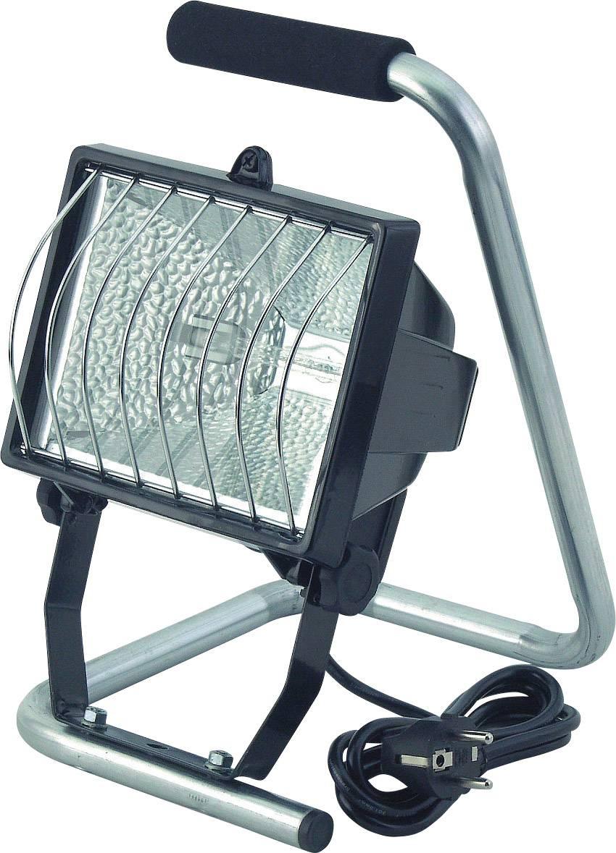 Prenosný halogénový reflektor Brennenstuhl, R7s, 500 W, IP44, vr. žiarovky, čierny