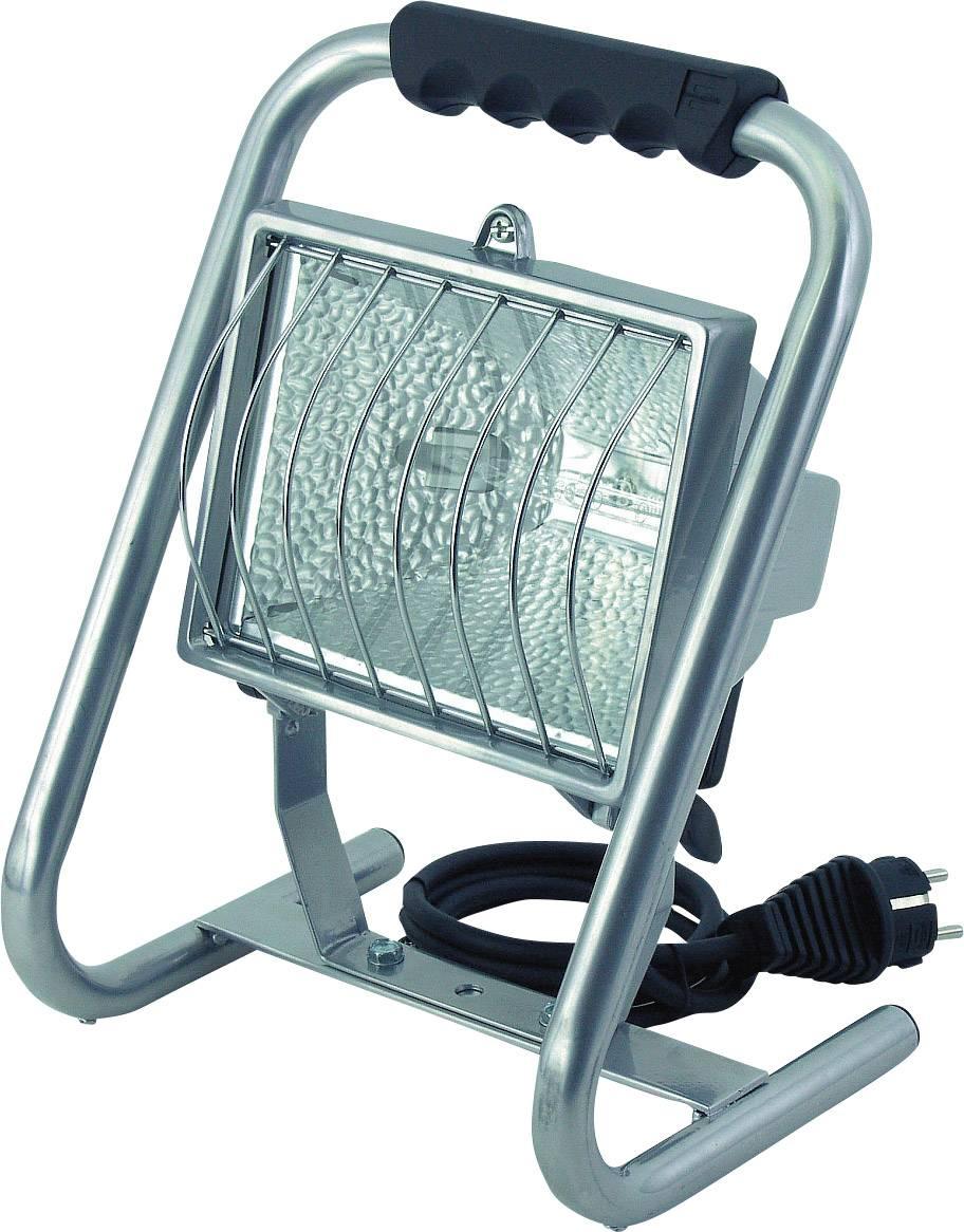 Prenosný halogénový reflektor Brennenstuhl, R7s, 500 W, IP44, vr. žiarovky, strieborný