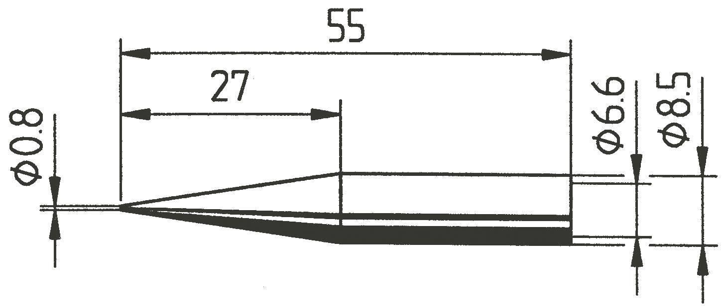 Spájkovací hrot ceruzková forma, predĺžená Ersa 842 SD, velikost hrotu 0.8 mm, 1 ks