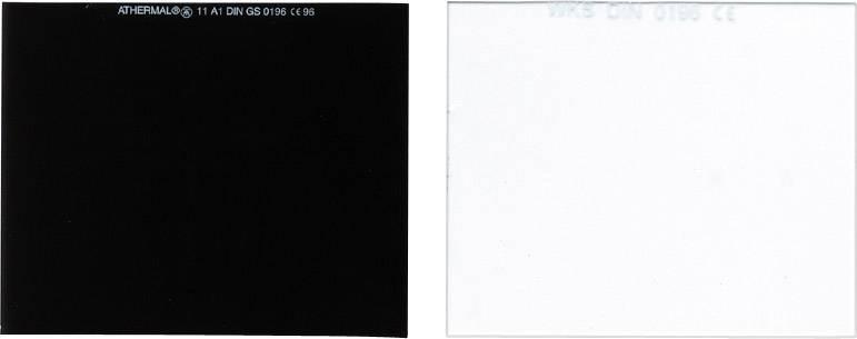 Ochranné zváračské sklo Lorch, 90 x 100 mm, 10 ks