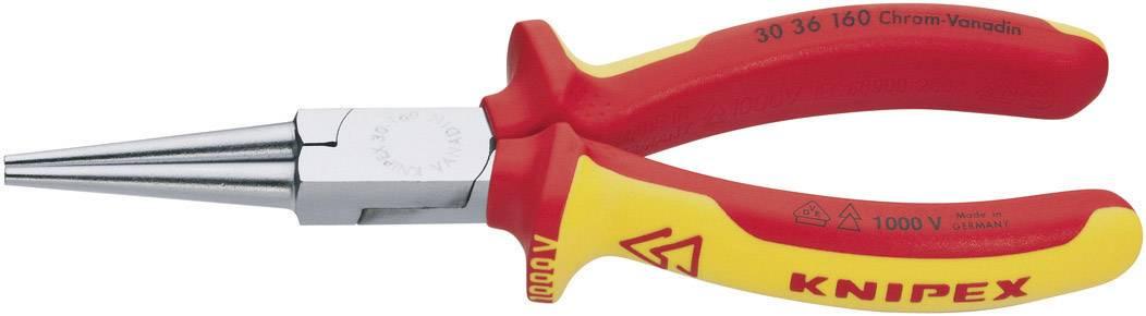Ploché kleště kulaté VDE Knipex 30 36 160, hladké plochy čelistí