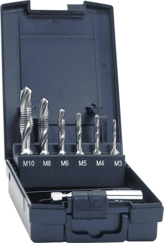 Sada HSS závitníků Exact 05910, metrické, M3/M4/M5/M6/M8/M10, pravořezné, 7dílná