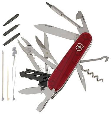 Vreckový nôž Victorinox Cyber-Tool 34 1.7725.T, červená