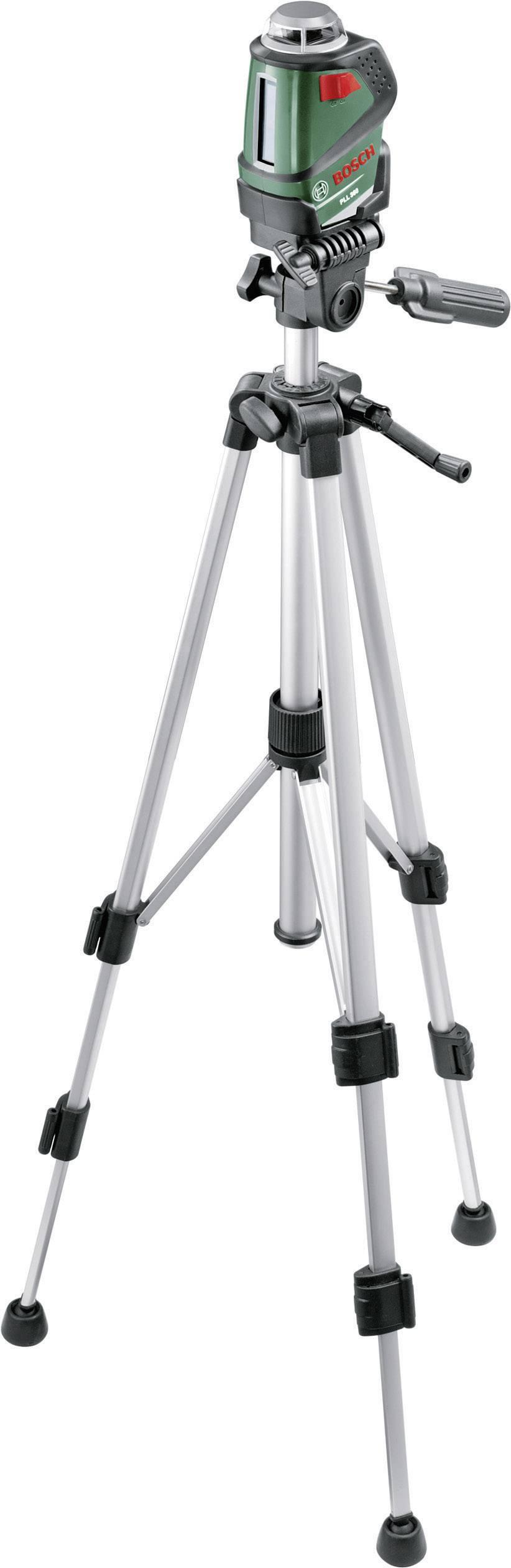 Křížová laserová vodováha samonivelační Bosch Home and Garden PLL 360 SET, dosah (max.): 20 m, Kalibrováno dle: ISO
