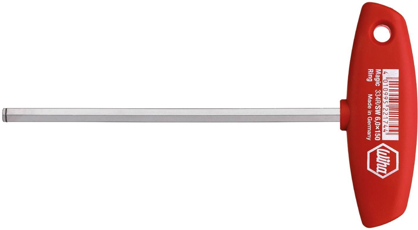 Imbusový skrutkovač Wiha Classic T-handle 334R 21960, chróm-vanadiová oceľ, 8 mm, 1 ks