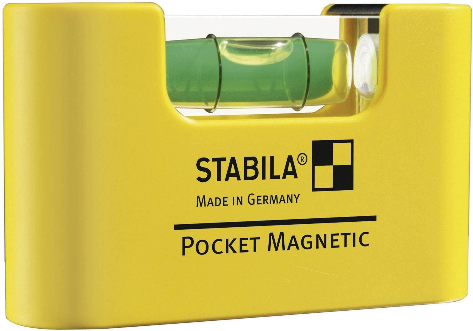 Plastová mini vodováha Stabila s extra silným magnetom