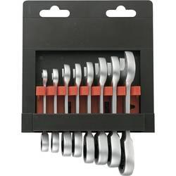 8-dielna sada vidlicových/račňových kľúčov Toolcraft