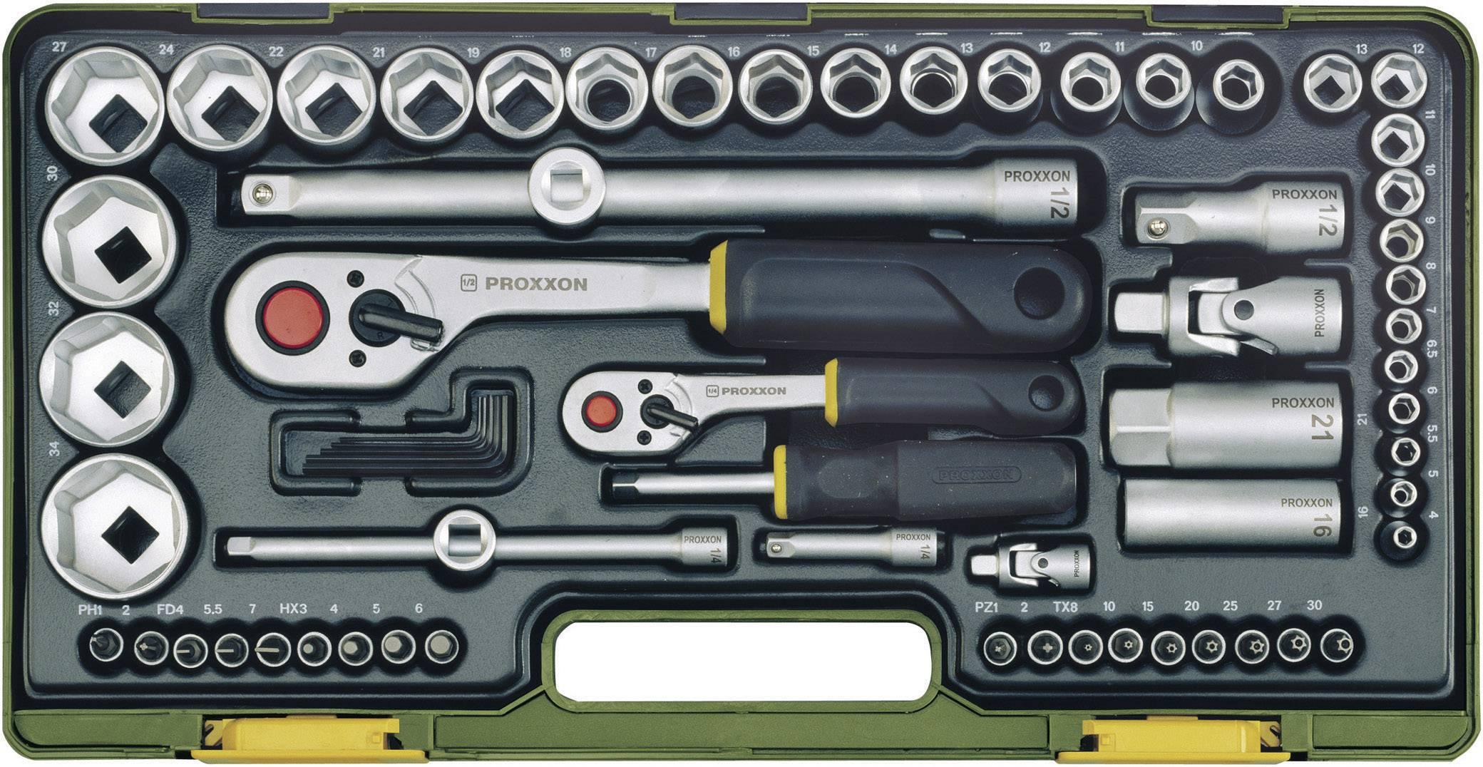 Súprava nástrčných kľúčov 65-dielna Proxxon Industrial 23286