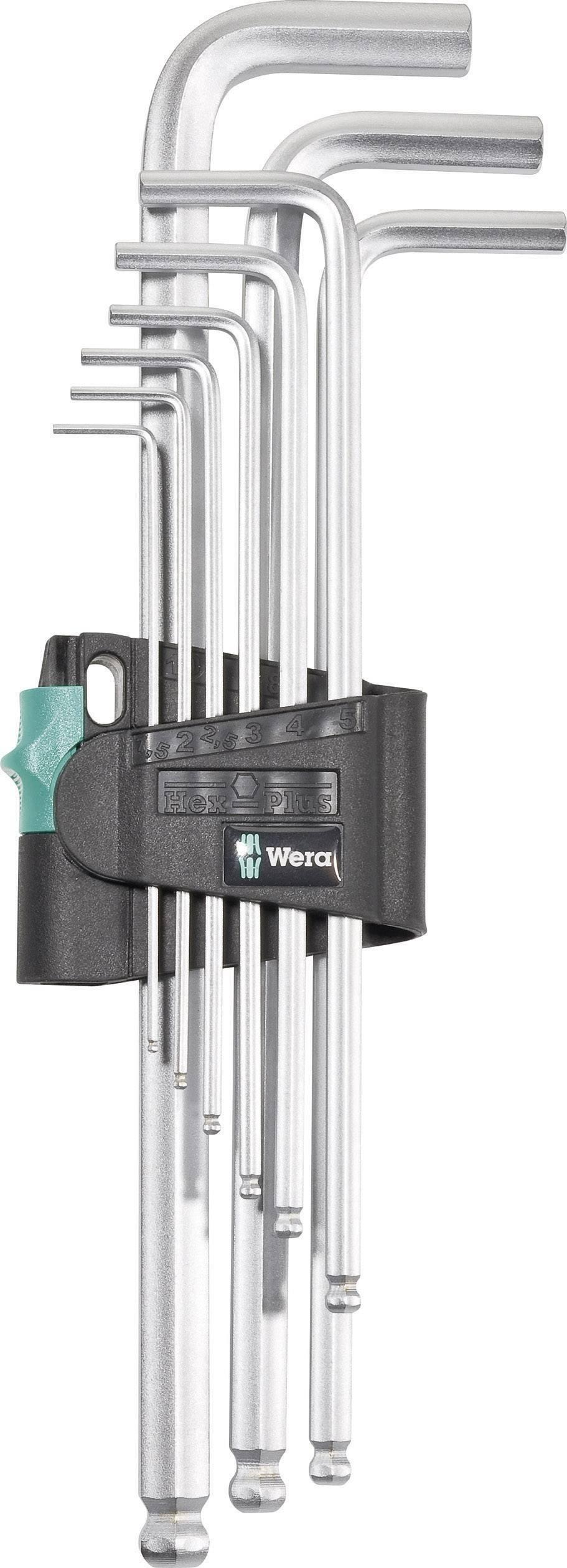Sada imbusových klíčů Wera Hex -Plus 05022087001, 1,5 - 10 mm, 9 ks