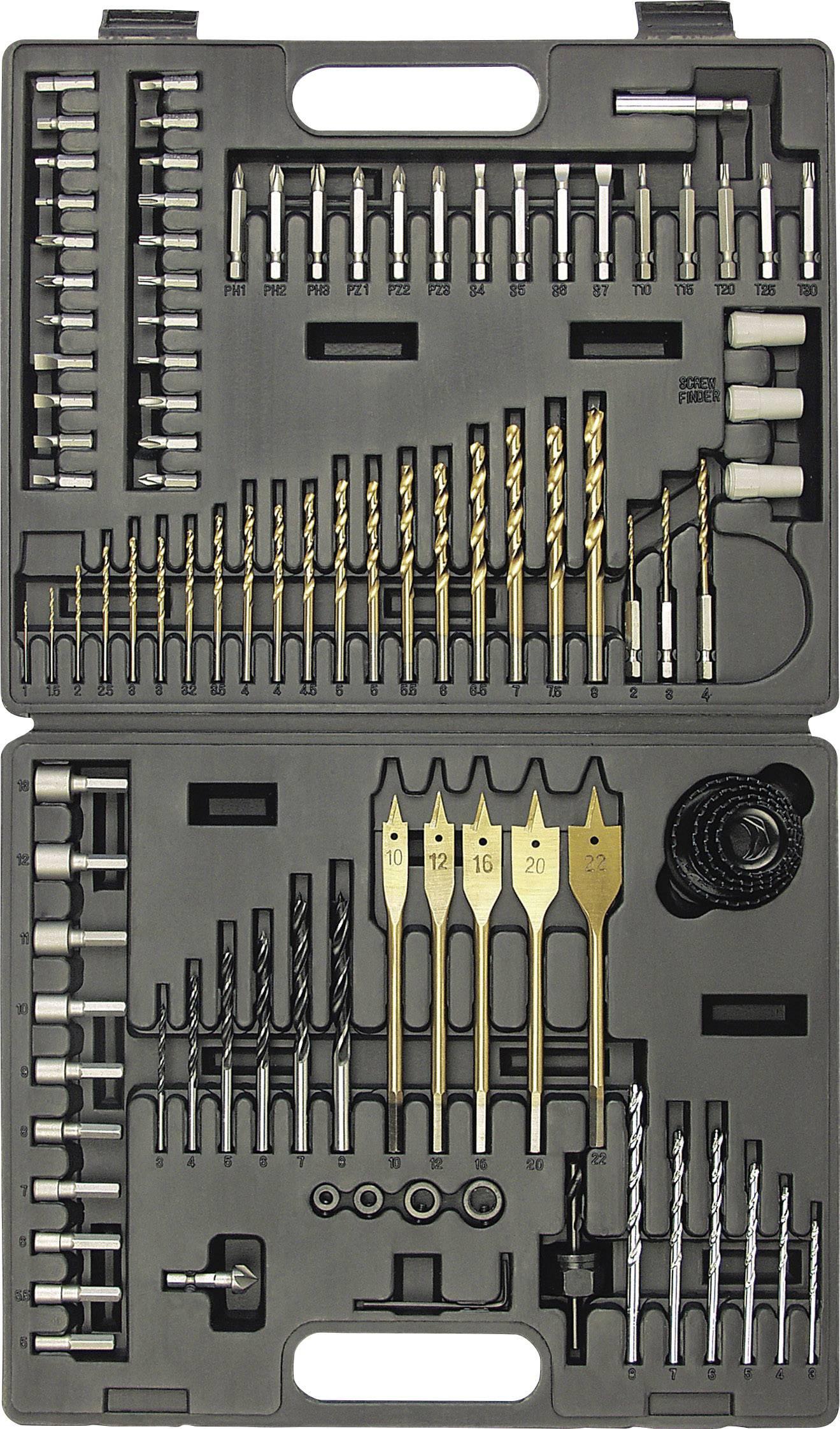 Univerzálny sortiment vrtákov M29815 824647, TiN, 101-dielna