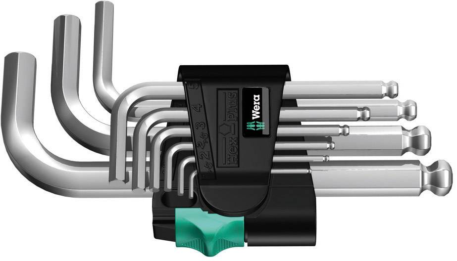 Sada imbusových kľúčov s guľovou hlavou Wera 05133163001, 1,5 - 10 mm, 9 ks