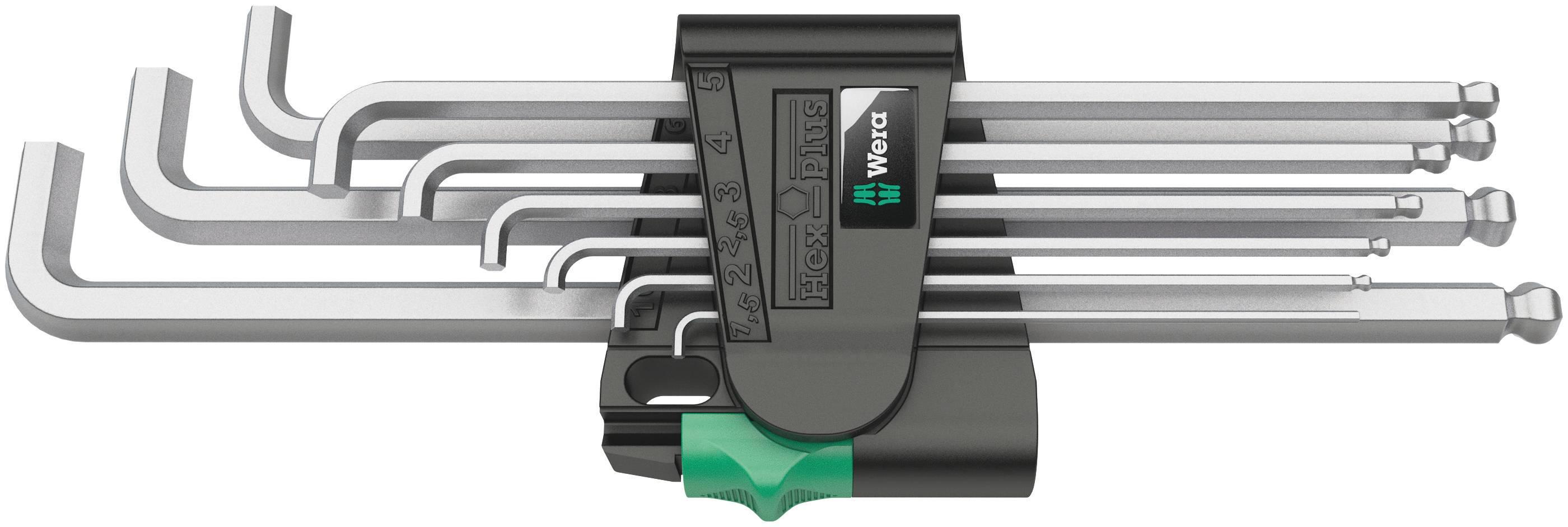 Sada imbusových kľúčov Wera 05073594001, 1,5 - 10 mm, 9 ks