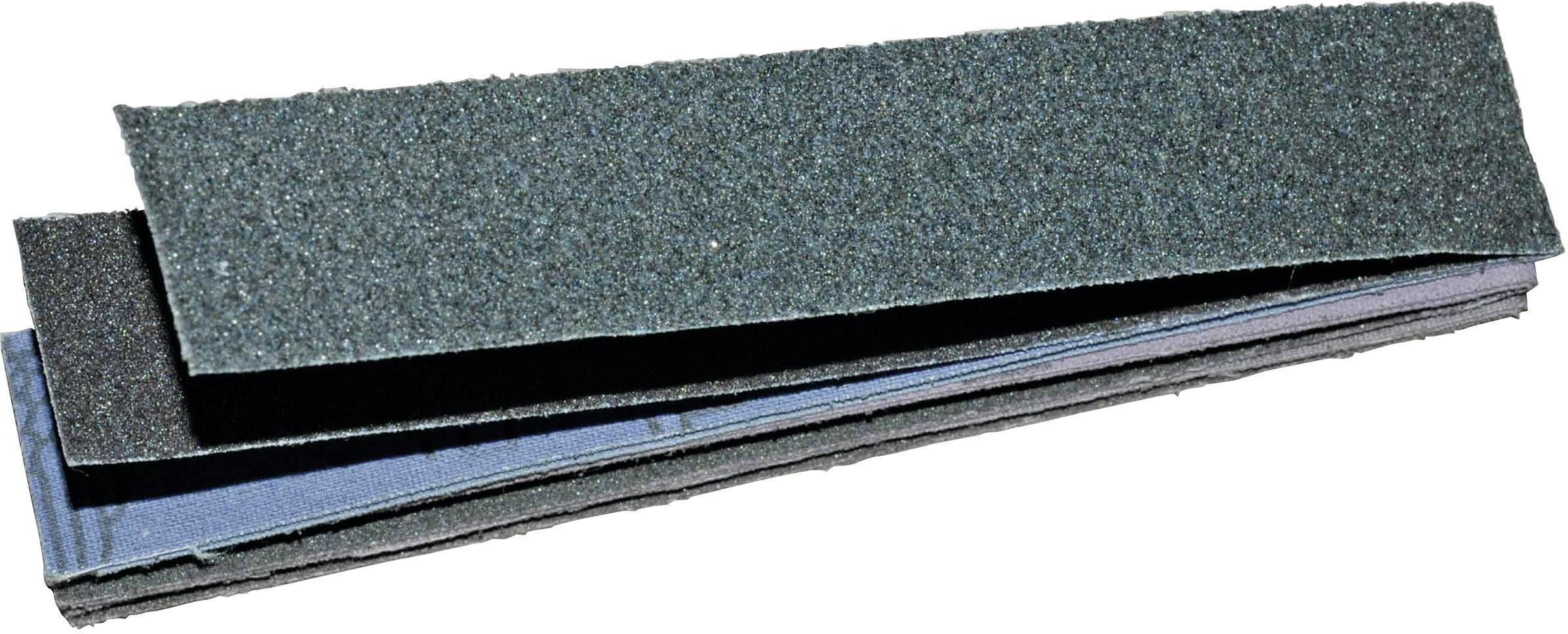 Brúsny papier pre pilníky 450813 zrnitosť 80, 120, 180, 240, (d x š) 127 mm x 25 mm, 1 sada