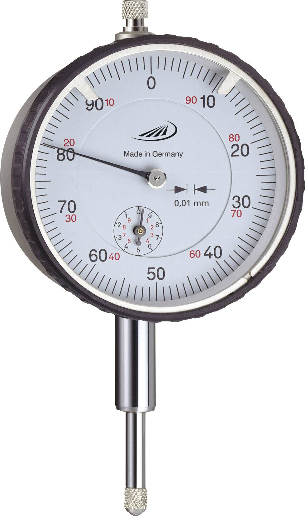 Úchylkomer Helios Preisser 0701110, 0.01 mm, kovové puzdro