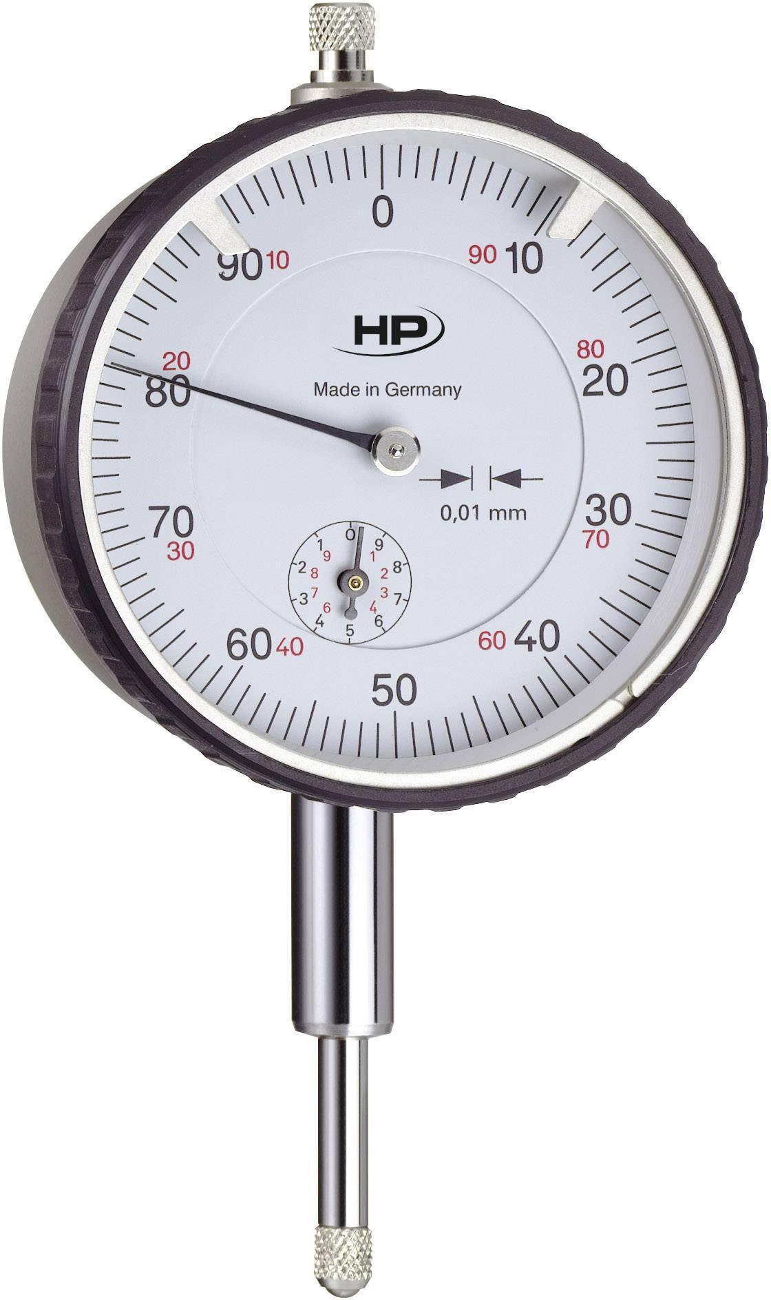 Úchylkomer Helios Preisser 0701111, 0.01 mm, kovové puzdro