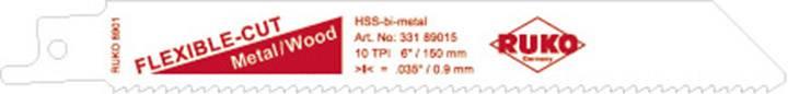 5dílná šavlovitých pilových listů 150 mm 8901-5