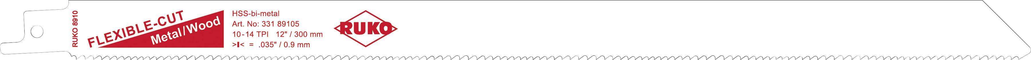 5dílná šavlovitých pilových listů 280 mm 8910-5