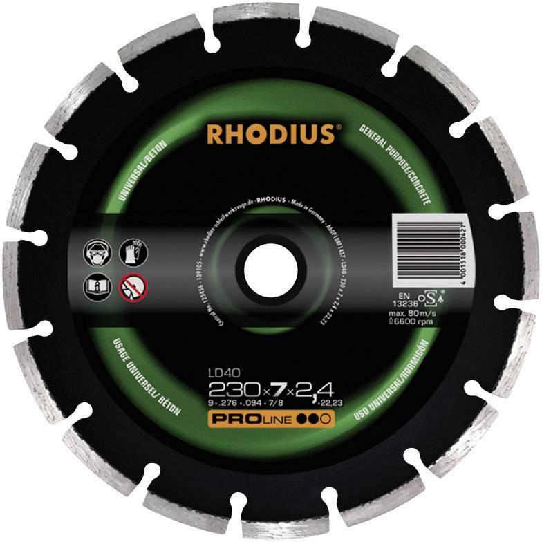 Diamantový rezný kotúč Rhodius 394136, Ø 115 mm, vnútorný Ø 22.23 mm, 1 ks