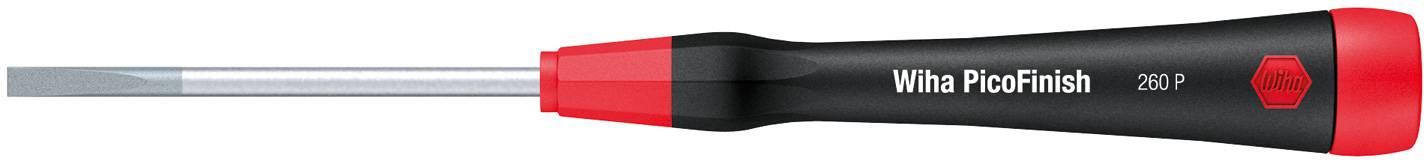 Plochý skrutkovač pre elektroniku a jemnú mechaniku Wiha PicoFinish 260P 00487 dĺžka čepele: 75 mm