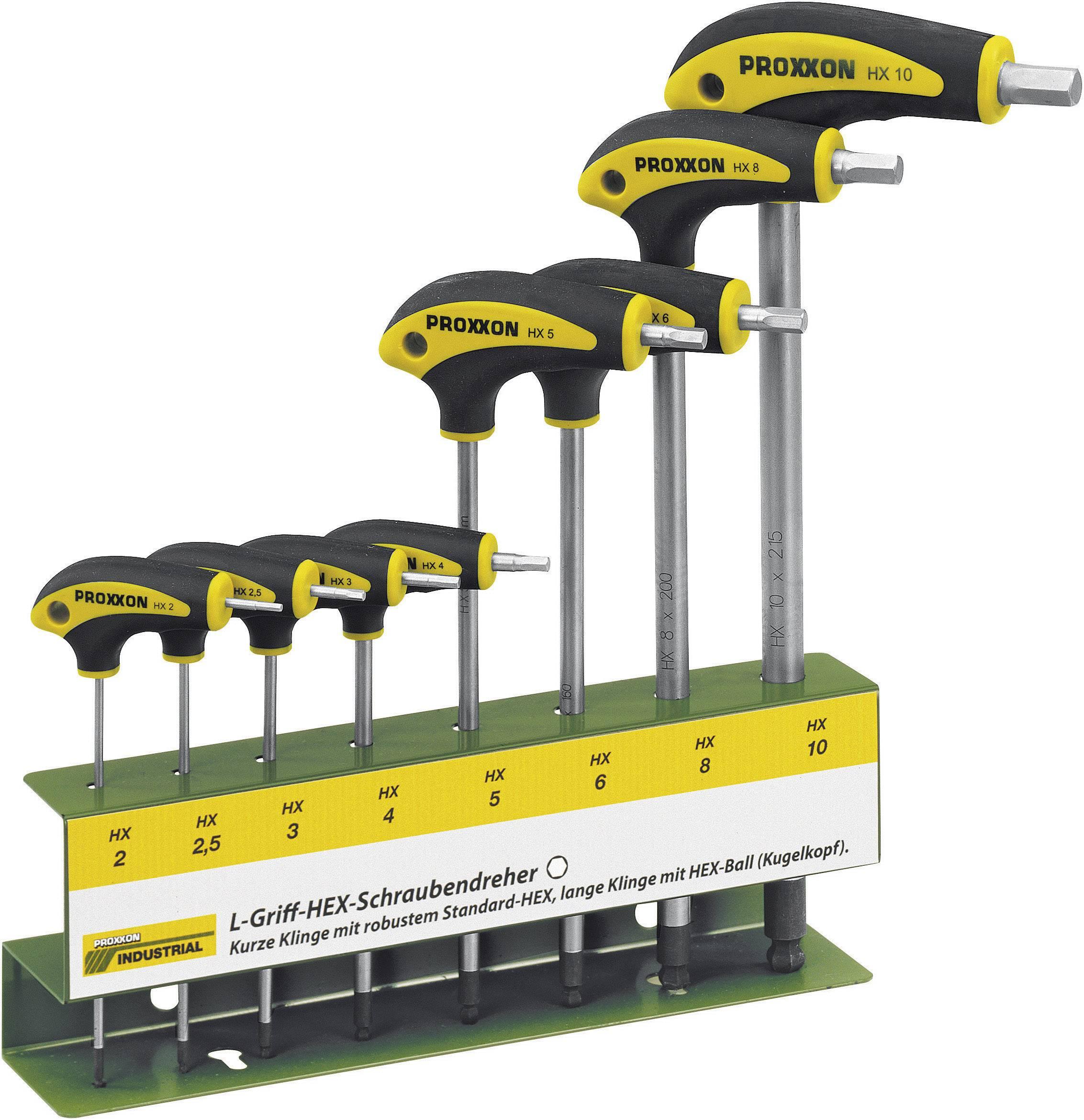 Súprava skrutkovačov Proxxon Industrial HEX L-handtag 22 650, 8-dielna