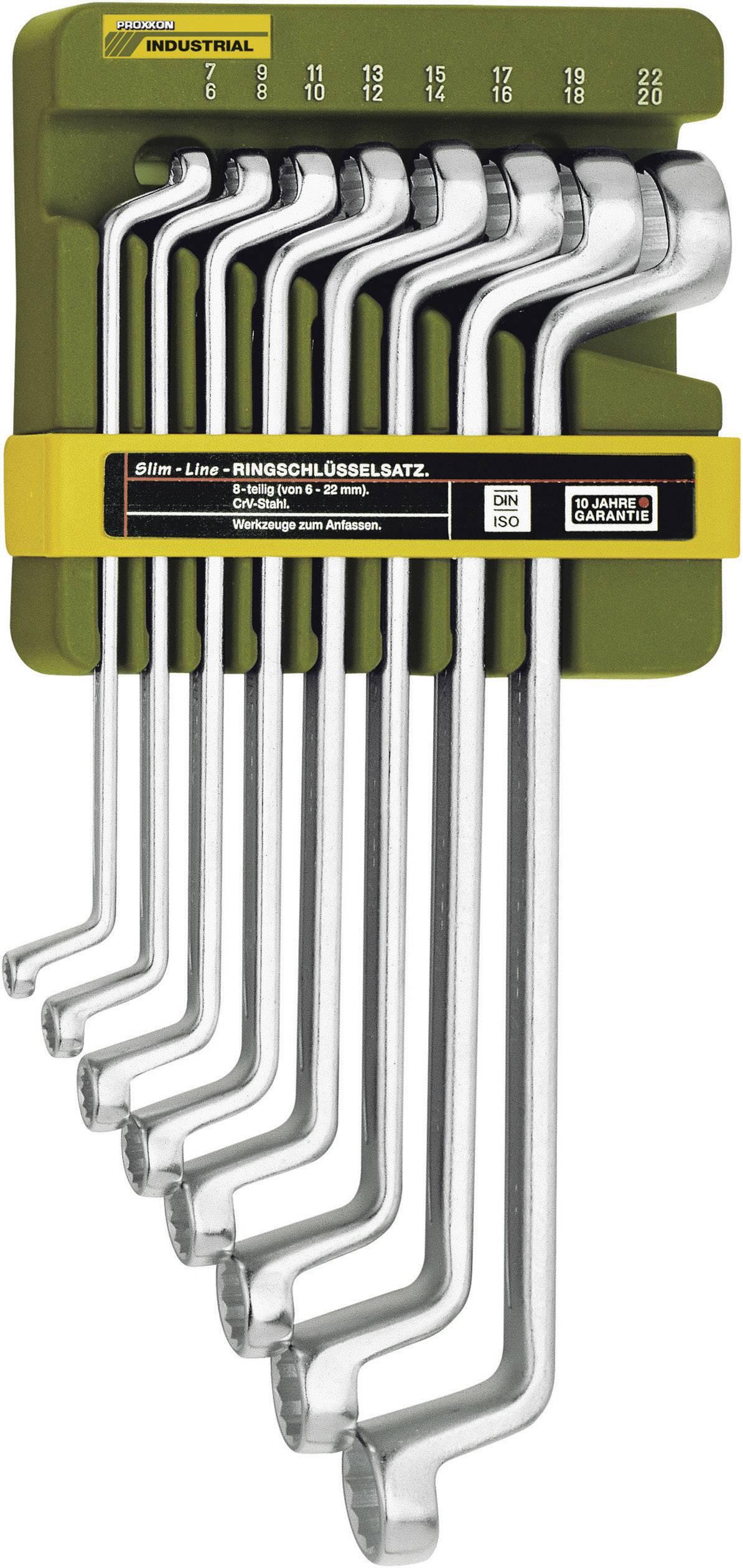 Súprava obojstranných očkových kľúčov Proxxon Industrial SlimLine 23 810, 8-dielna, 6 - 22 mm, N/A