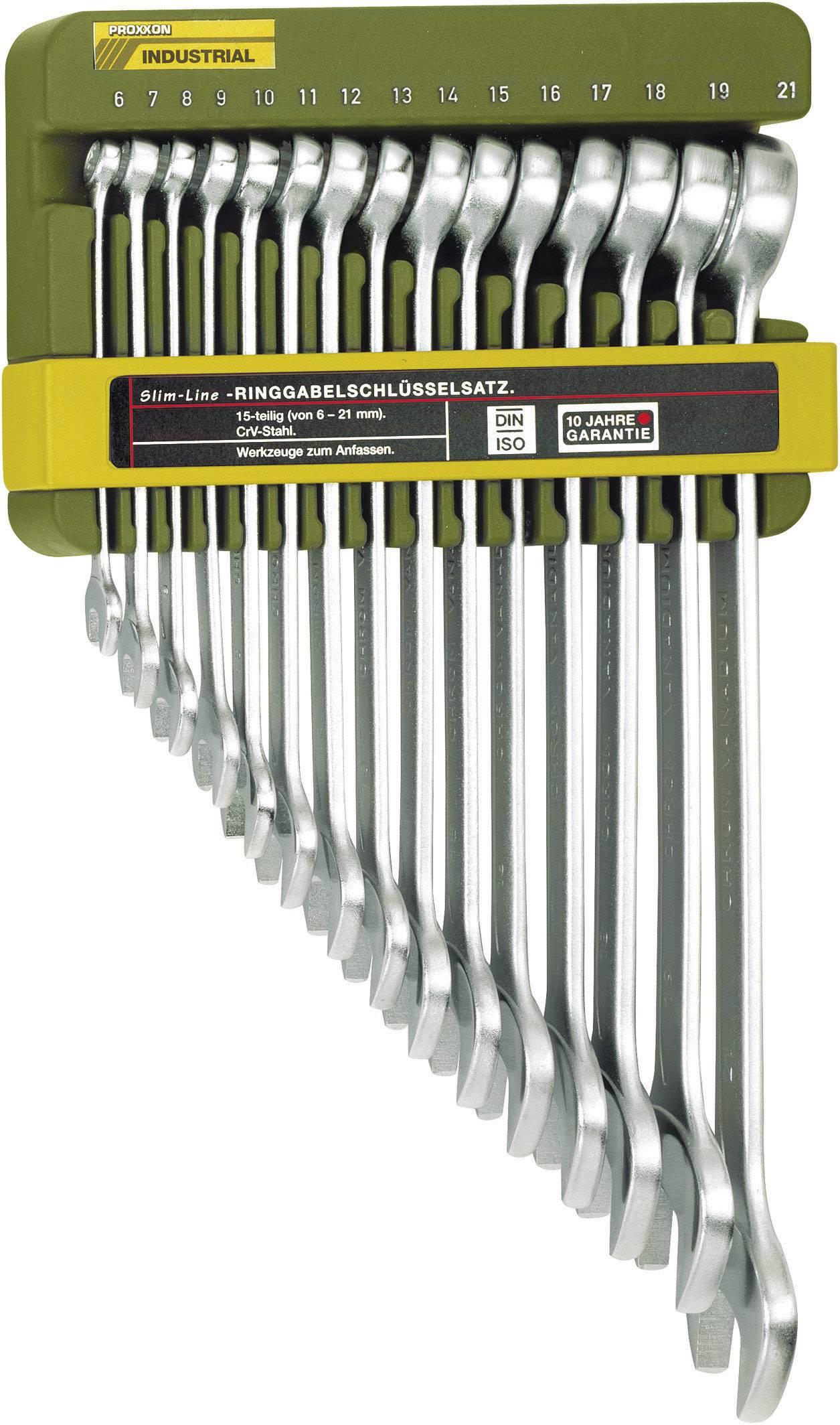 Sada očkoplochých klíčů Proxxon Industrial, 6 - 21 mm, 15 ks