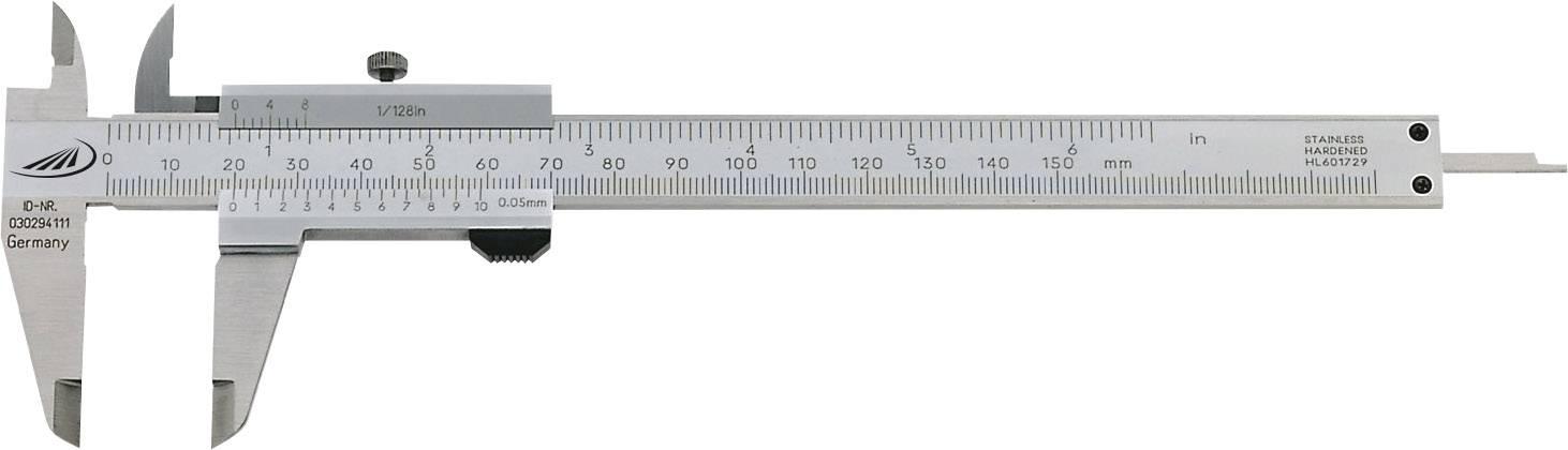 Vreckové posuvné meradlo Helios Preisser 0185 501, rozsah merania 150 mm