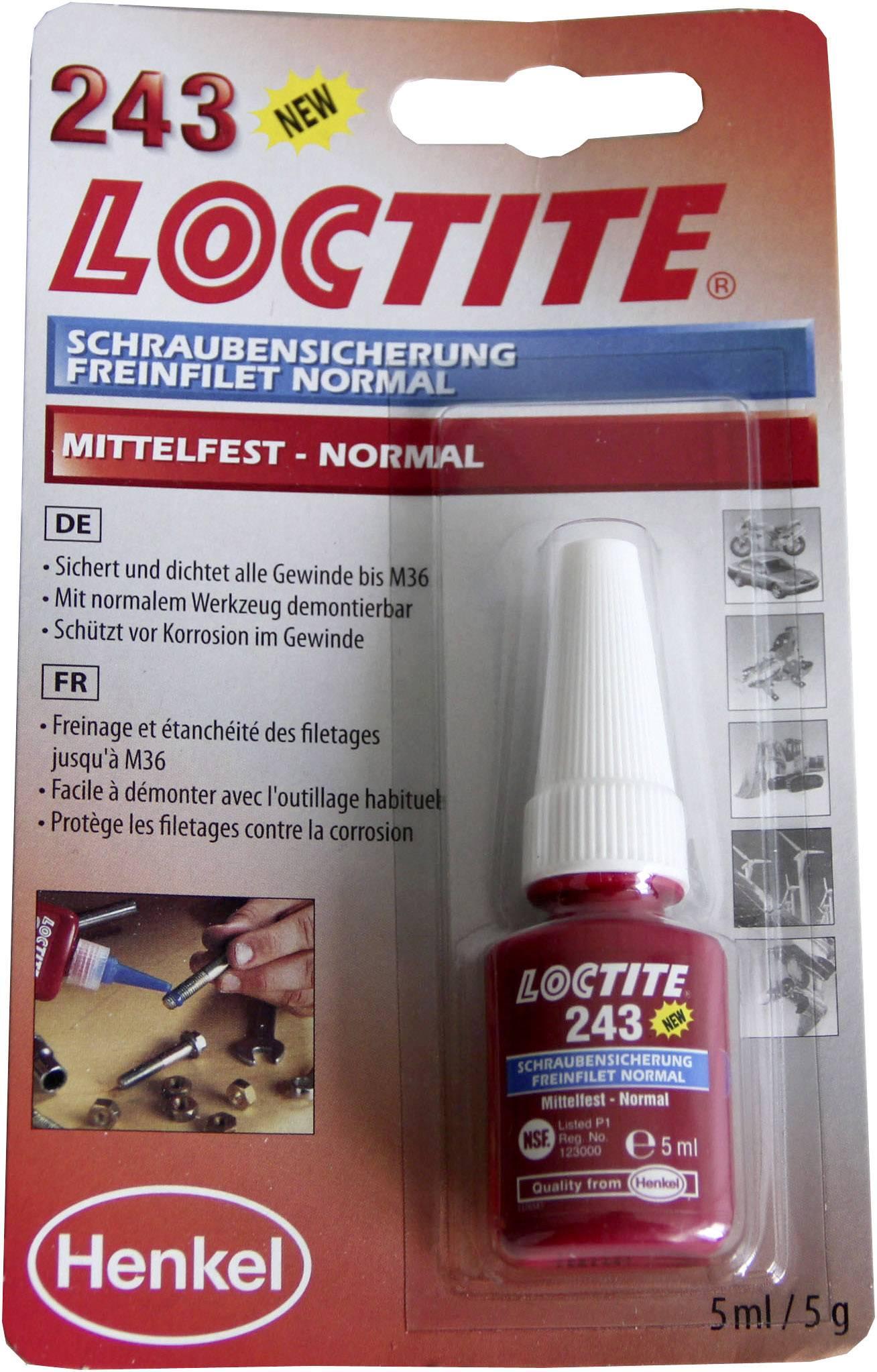 Zajištění šroubů Pevnost: střední 5 ml LOCTITE® 243 1370555