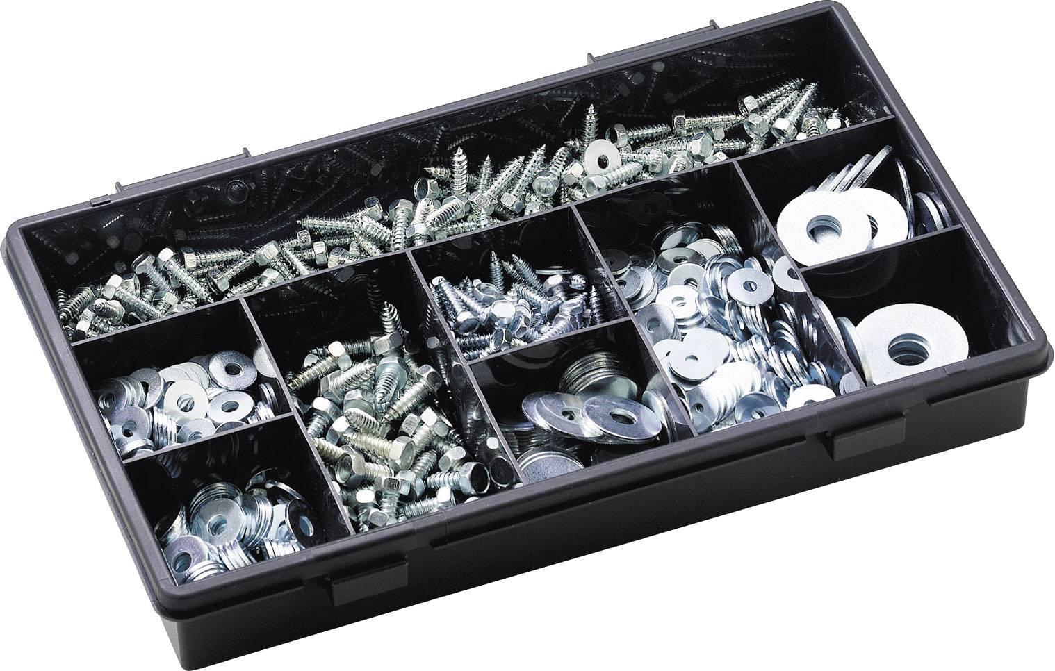 805-dílný sortiment šroubů apodložek do karoserie