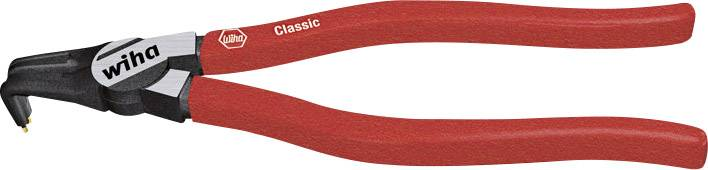 Kleště zahnuté pro vnitřní pojistné kroužky Wiha, 8 - 13 mm, délka 140 mm