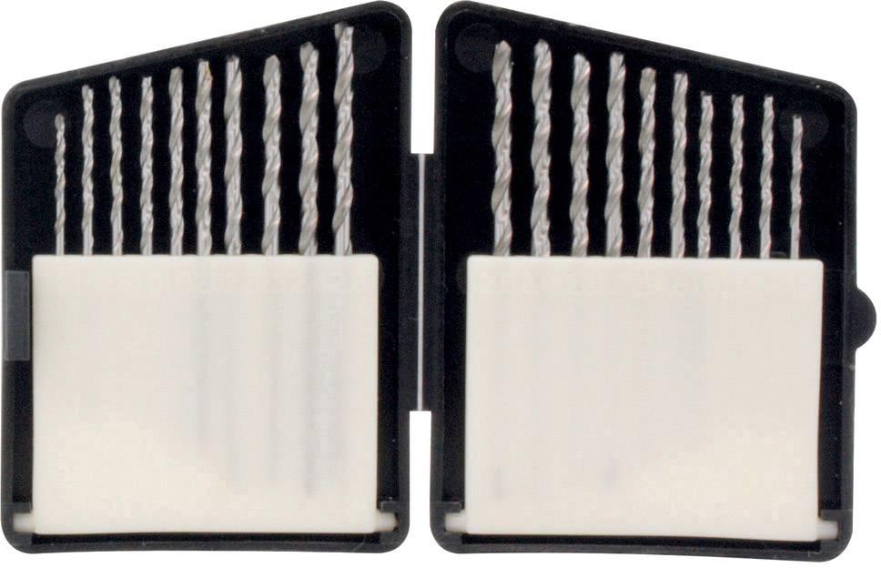 Sada kovového špirálového vrtáka HSS225, 1.3 mm, 1.4 mm, 1.5 mm, 1.6 mm, 1.8 mm, 2 mm, 2.2 mm, 2.3 mm, 2.4 mm, 2.5 mm, DIN 338, HSS, 1 sada