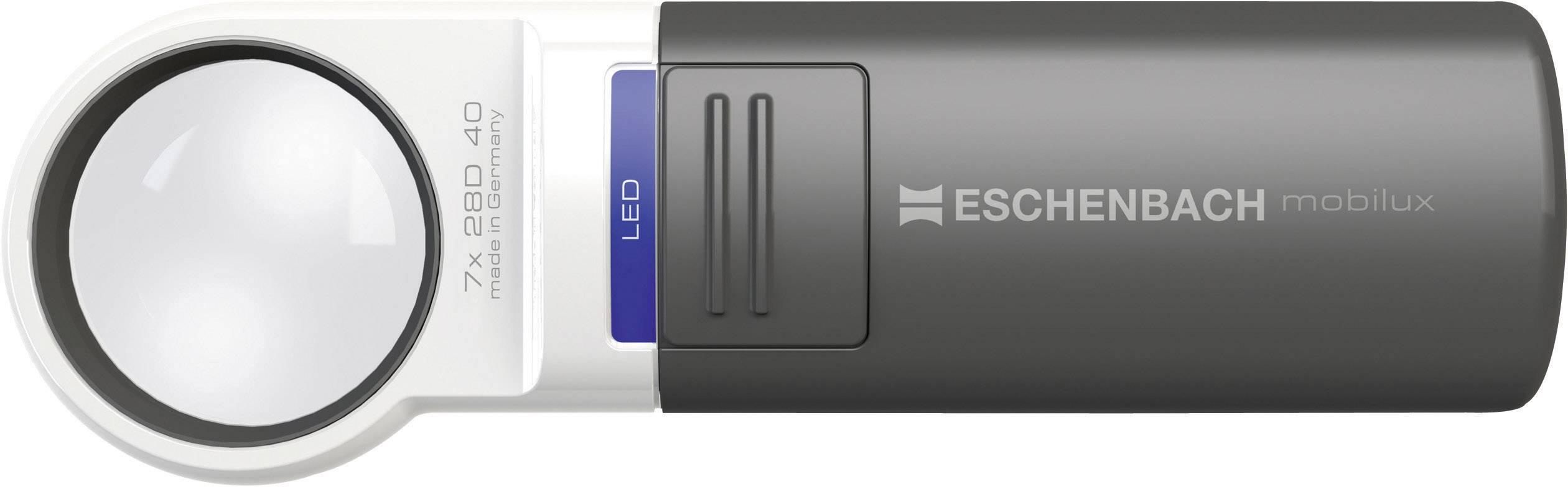 Lupa s LED osvětlením Eschenbach mobilux 151141, 60 mm, 4,0x