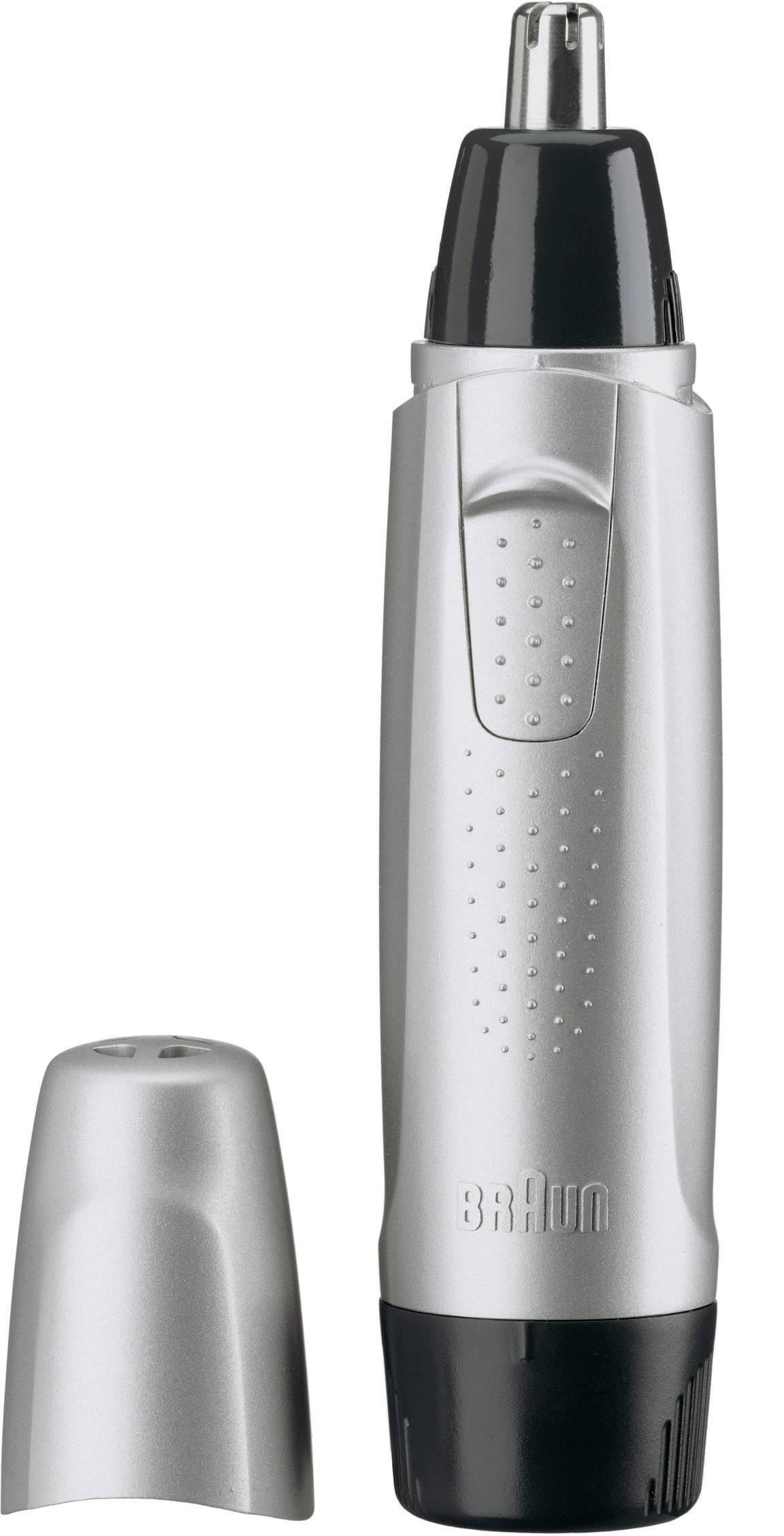 Zastrihávač ušných a nosných chĺpkov Braun EN10 omývateľný striebornočierná