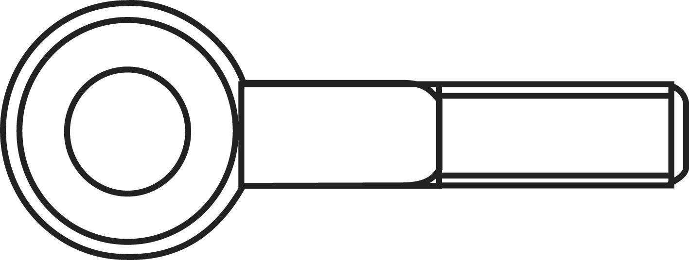 Šroub s okem závit M4 25 mm, 50 ks