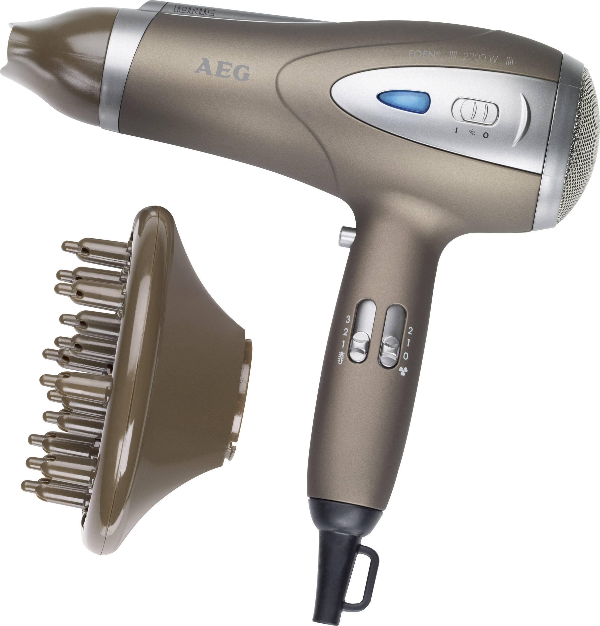 Fén AEG HTD 5584 hnedá (metalíza), strieborná