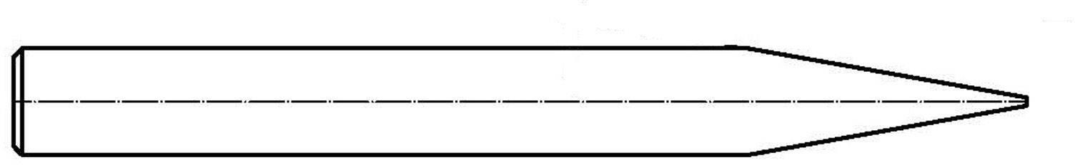 Spájkovací hrot dlátová forma, rovná Weller T0054310500, velikost hrotu 6.3 mm, 1 ks