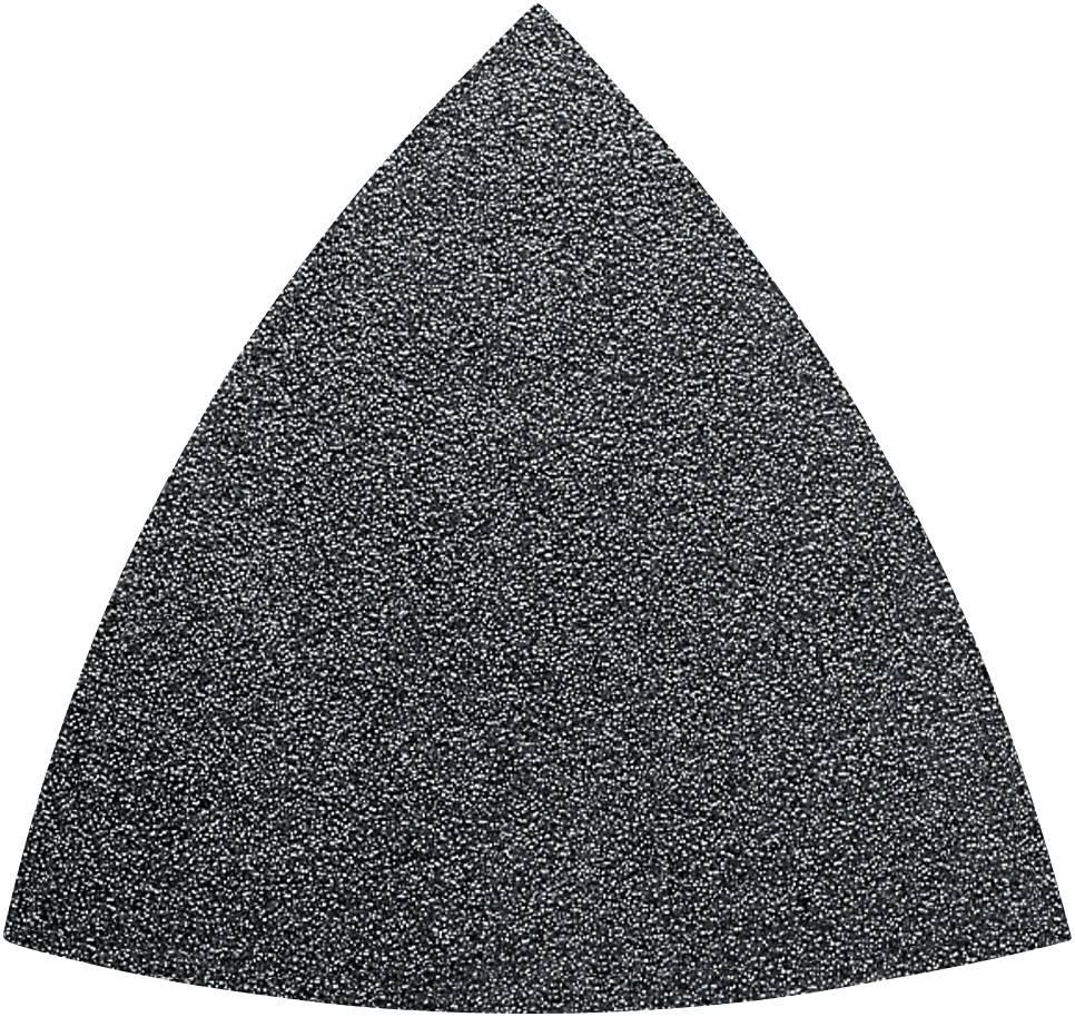 Sada brúsneho papiera pre delta brúsky Fein 63717082033 na suchý zips, bez otvorov, zrnitosť 60, 80, 120, 180, 240, 50 ks